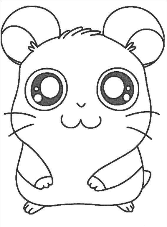 Pinto Dibujos: Panda de Hamtaro para colorear