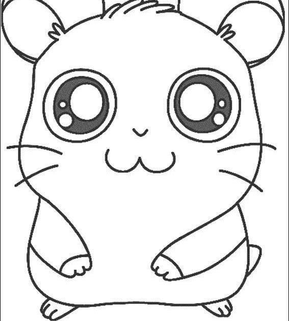 Pinto Dibujos Panda de Hamtaro