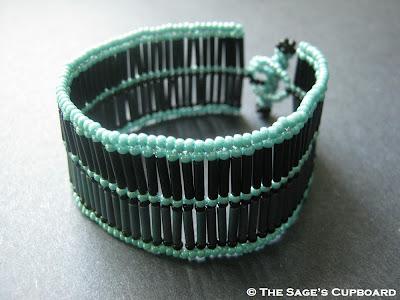 Egyptian Turquoise Bugle Bead Cuff