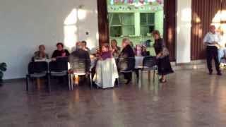 Szüreti bál Jákó 2013.09.21. - Köszöntő - Nyugdíjas Klubok