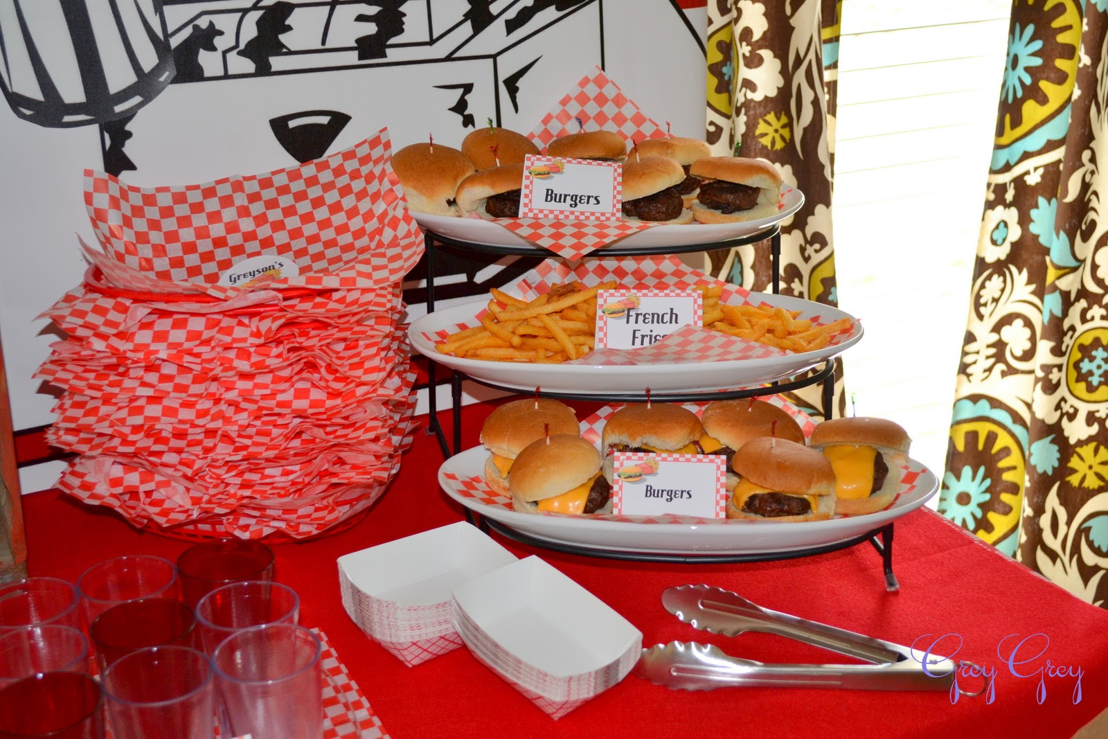 hamburger themed birthday party