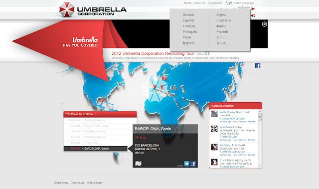 *一起加入充滿希望的工作吧!!|Umbrella Corporation Web Site 2