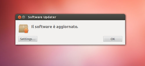 Ubuntu 12.10 - Software Updater - sistema aggiornato