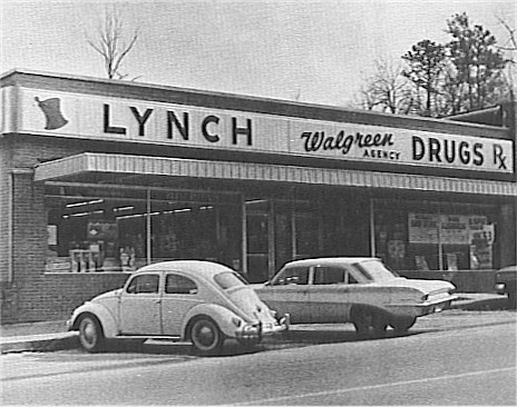 Mintaka's Historic Clemson Photos Photos - 1963, Downtown Clemson, Lynch Drug, Mintaka
