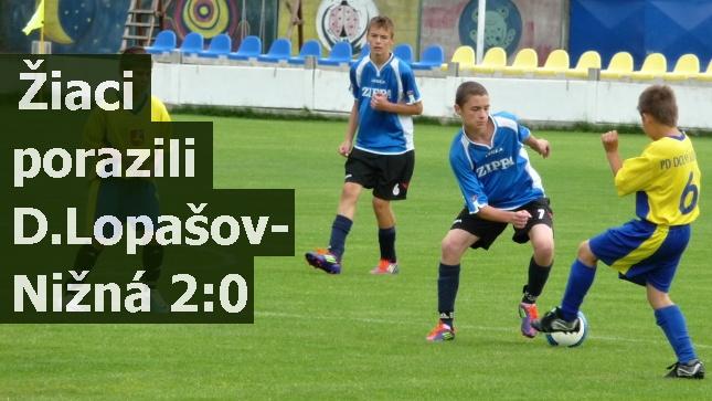 Žiaci porazili D.Lopašov-Nižná 2:0