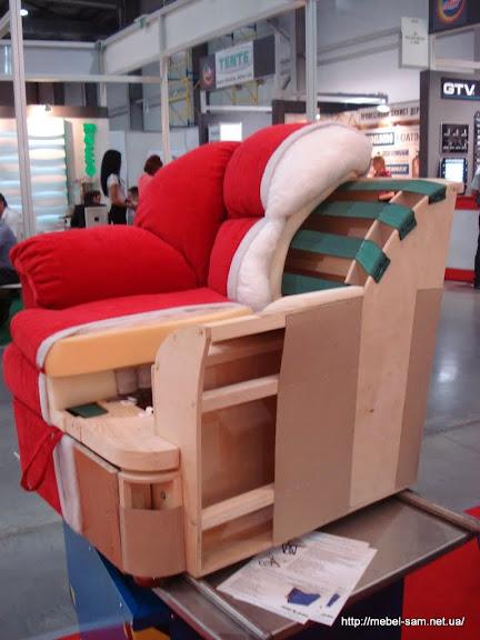 Мягкое кресло в разрезе вид сбоку