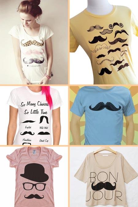camiseta com bigode