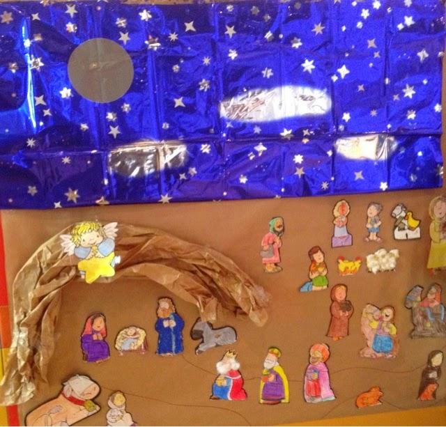 Colegio san agust n chiclana estamos acerc ndonos a la for Mural navideno