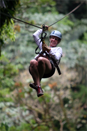 Zip Line in the Carpathians