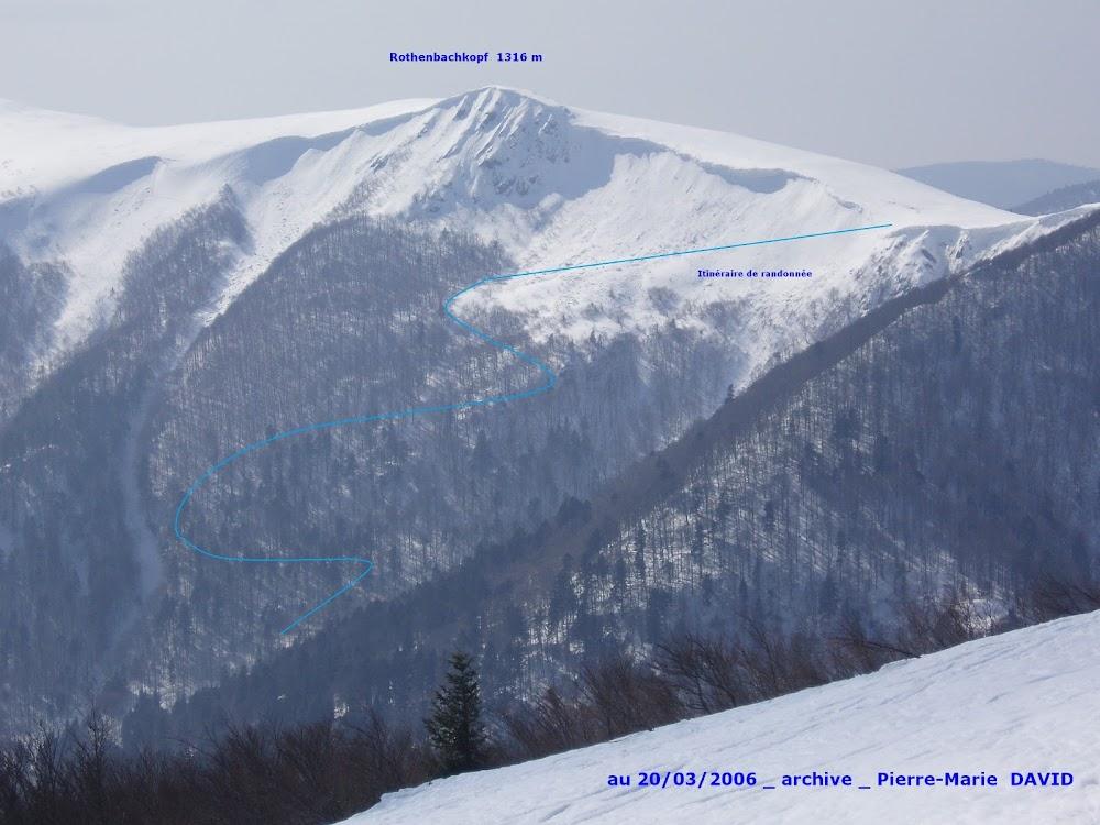 Avalanche Vosges, secteur Rothenbachkopf, Couloir entre le Rothenbachkopf et le Rainkopf - Photo 1