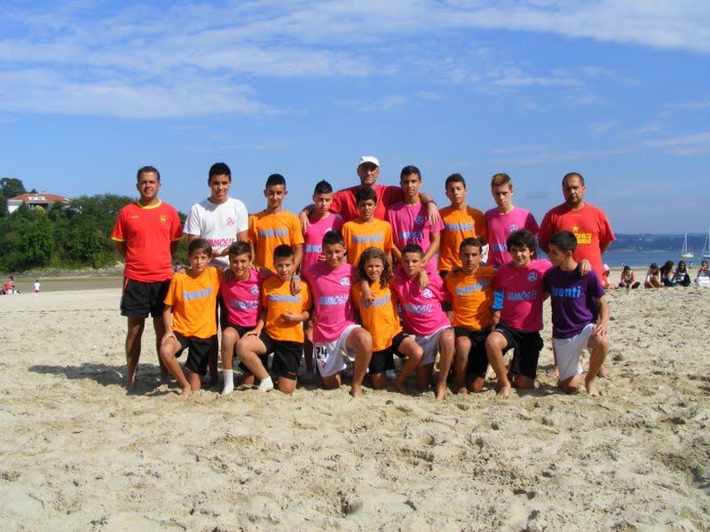 Torneo Fútbol Playa Ares 2012. Final Infantil. Naranja Mecánica - Coca Juniors.