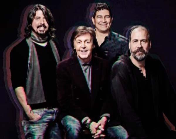 McCartney, Grohl, Novoselic y Smear