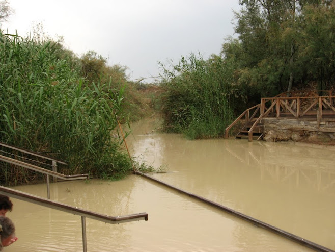 The place where Israel crossed the Jordan river east of Jericho