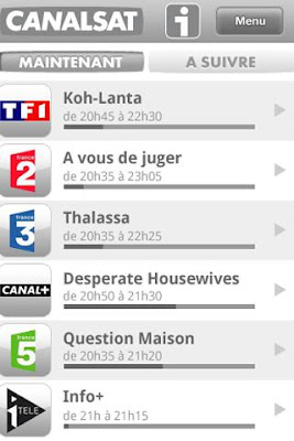 canal+ app for xperia arc and neo