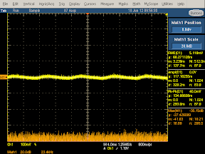 High frequency oscilloscope trace from Apple iPhone charger