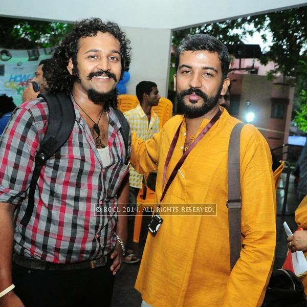 Arjun and Bandhu Prasad during the International Documentary and Short Film Festival, held at Trivandrum.