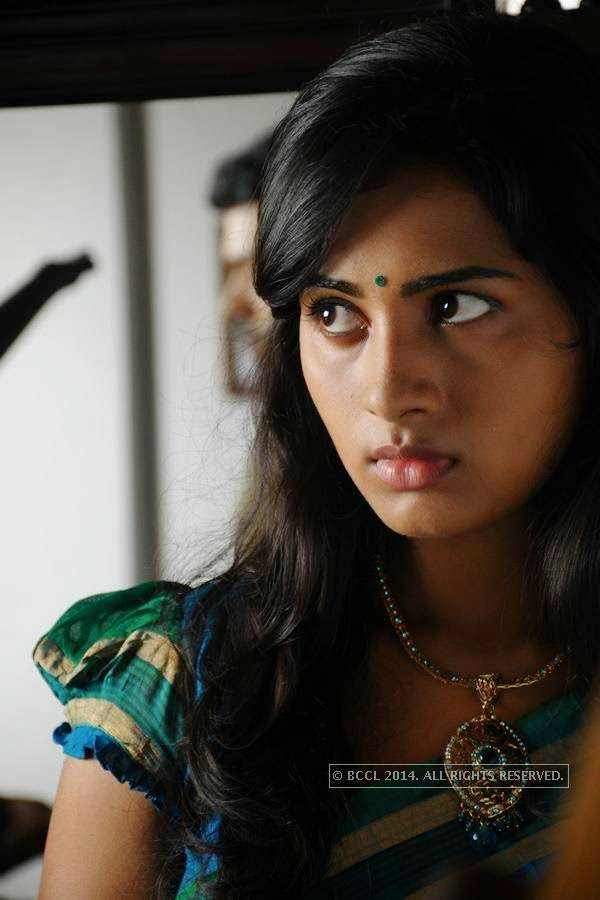 Srushti Dange in a still from the movie Megha.<br /> <br /> <br />