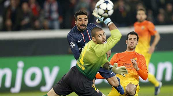 Liga de Campeones, Paris ST. Germain-Barcelona