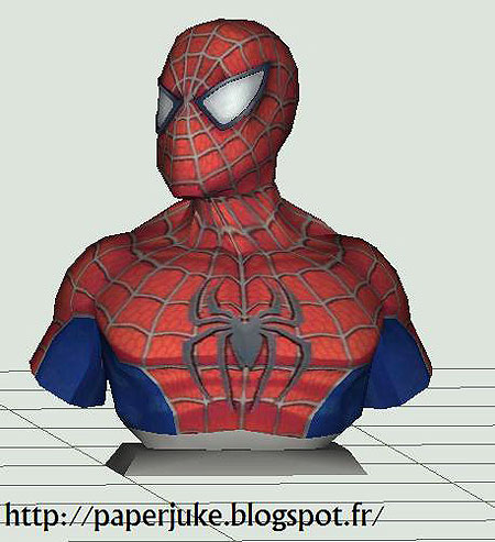 Spider-Man Paper Model Bust