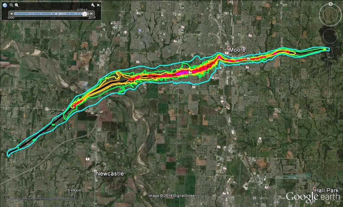 moore ef5 tornado may 20 2013 damage map path new nov 22 2014