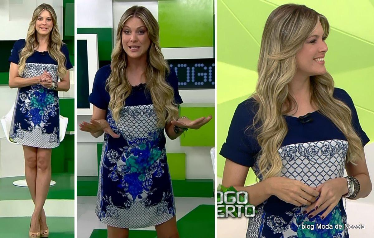 moda do programa Jogo Aberto - look da Renata Fan dia 13 de maio