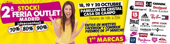Stock! 2ª Feria Outlet Madrid. 18, 19 y 20 de octubre en el Pabellón de Cristal de la Casa de Campo