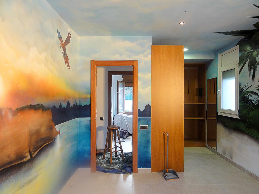 Berok graffiti mural profesional en barcelona marzo 2011 - Mural para habitacion ...