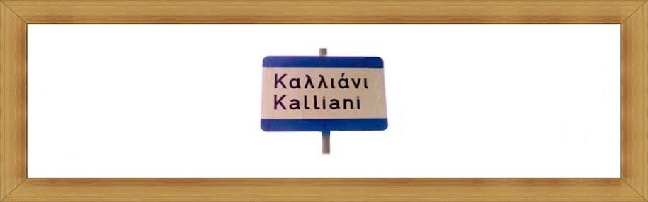 Καλωσορίσατε! ...μόλις φθάσατε στο διαδικτυακό Καλλιάνι (ον) της Γορτυνίας.