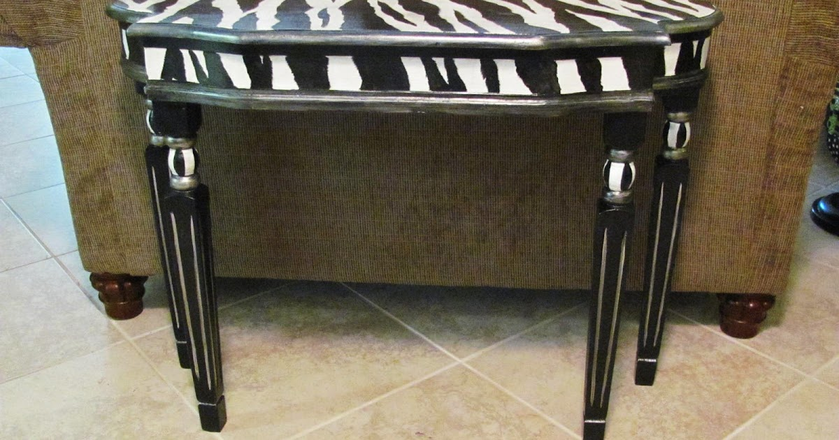 zebra table before and after lucy designs