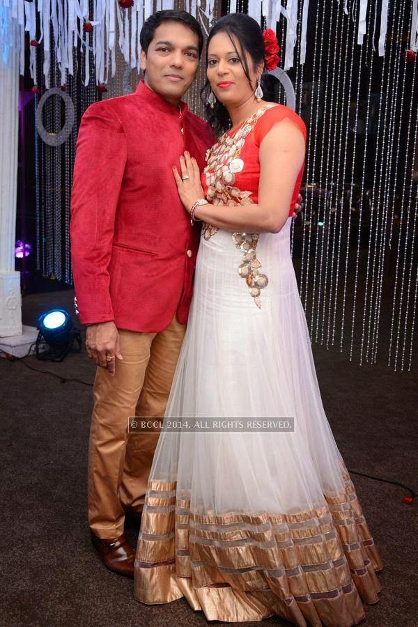 Ritesh and Namrata's 15th wedding anniversary, held at a city hotel in Hyderabad.