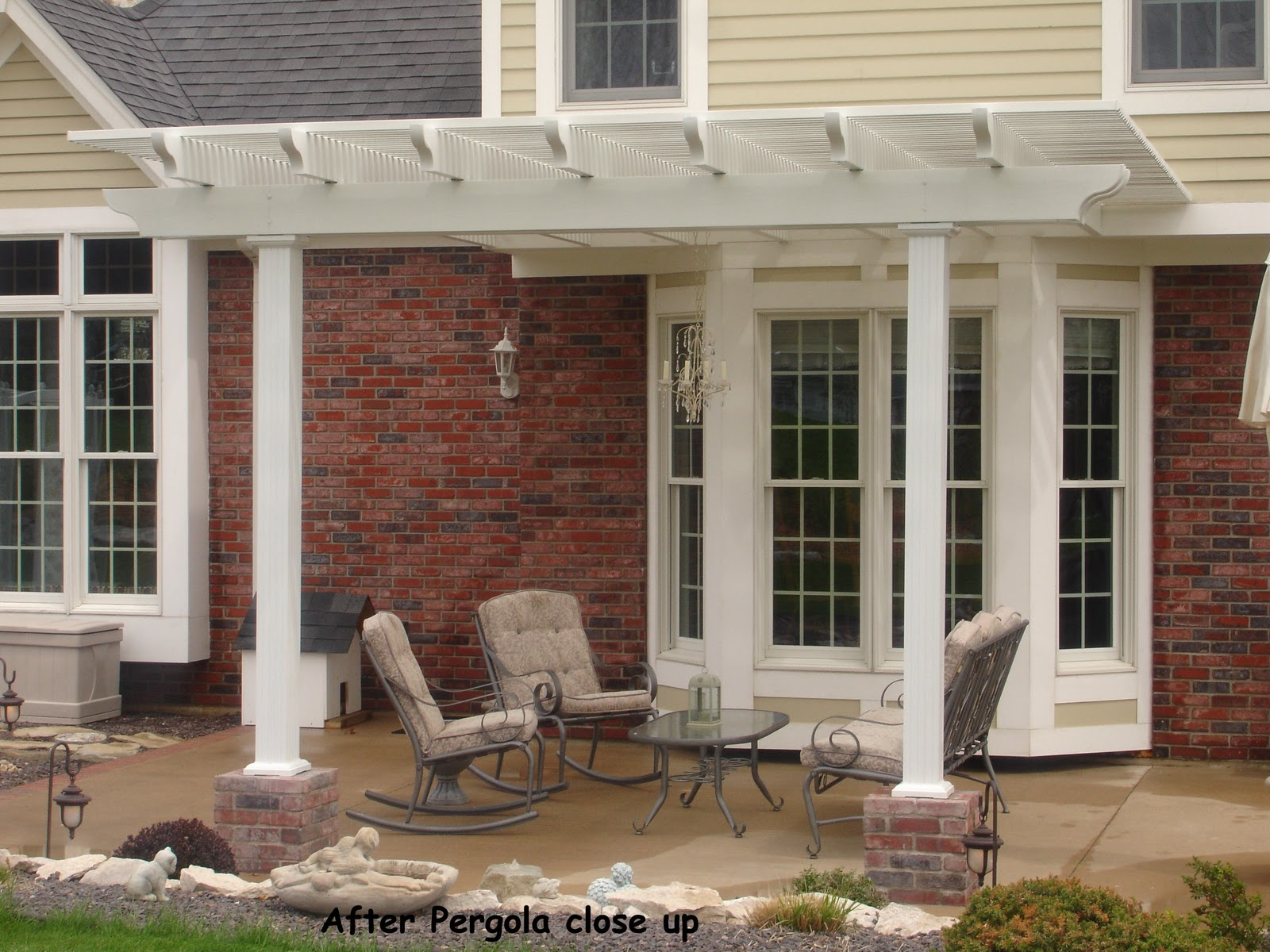 image click any columns twice porch for install vaughan a maple in much mississauga gta style deck installed column railings railing aluminum