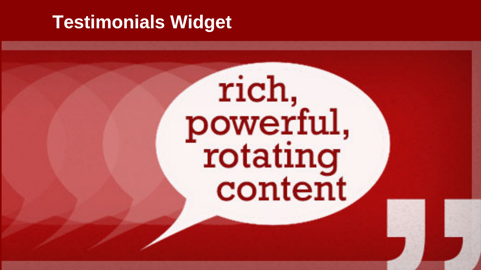 Testimonials widget - WordPress testimonial plugins