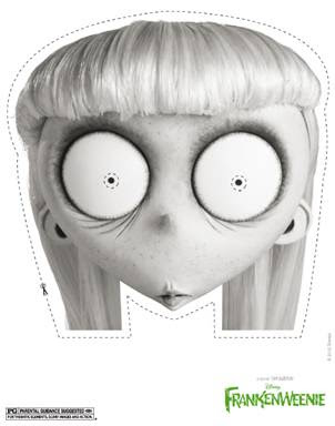 Disney's Frankenweenie Free Printable Halloween Mask