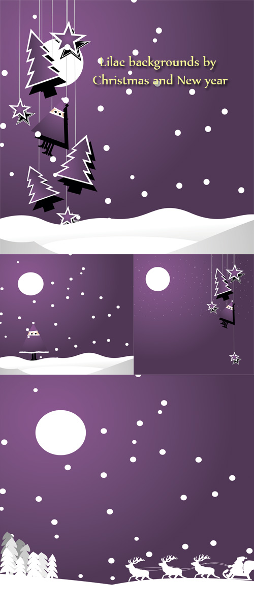 Stock: Lilac backgrounds by Christmas and New year