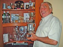 J/36 owner with dozens of winning trophies from sailing regattas