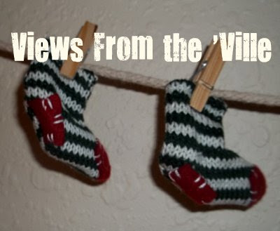 Christmas Craft - Santa's Socks for the Clothesline