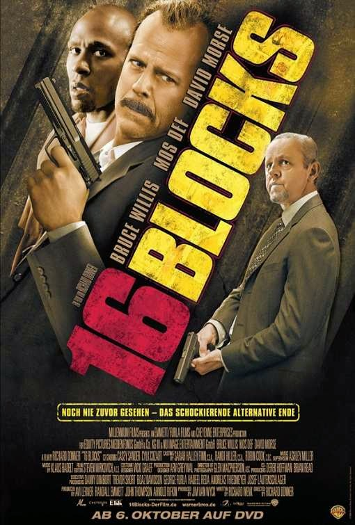 Poster Of 16 Blocks (2006) Full Movie Hindi Dubbed Free Download Watch Online At Alldownloads4u.Com