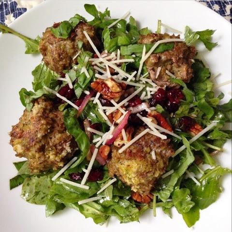 Arugula Salad Ideas Meatball Arugula Salad