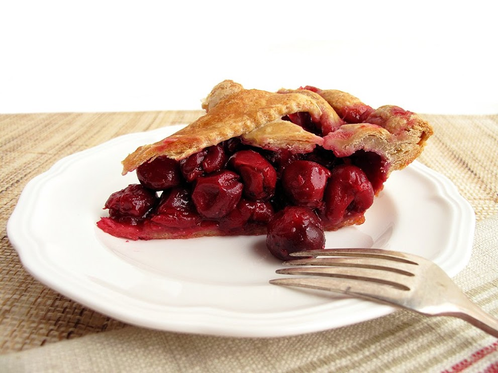 sour cherry pie slice