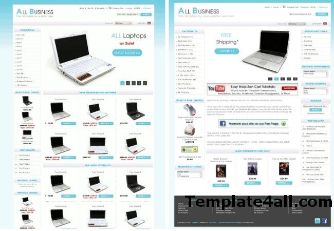 Computers Shopping Store Zen Cart Template