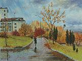 art, painting, живопись, масло, рисунки, Валерий Каренгин,Valery Karengin, cloudy day,пасмурный день,