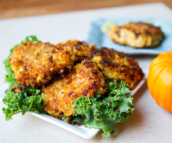 Toasty Pumpkin Chickpea Fritters!