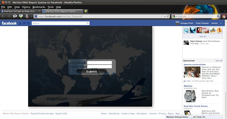 Merlion Facebook Portal Application! 2011-12-20_18-21-05