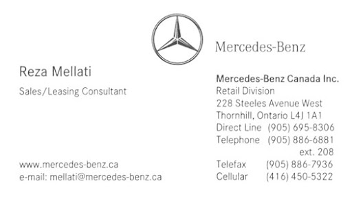 Danh thi p kinh doanh c c c ng ty l n tr n th gi i for Mercedes benz card