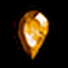 無瑕疵的黃寶石