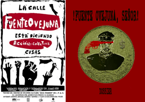 "Posters from contemporary Mexican stagings of ""Fuenteovejuna"""