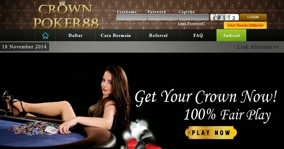 Daftar CrownPoker88.com