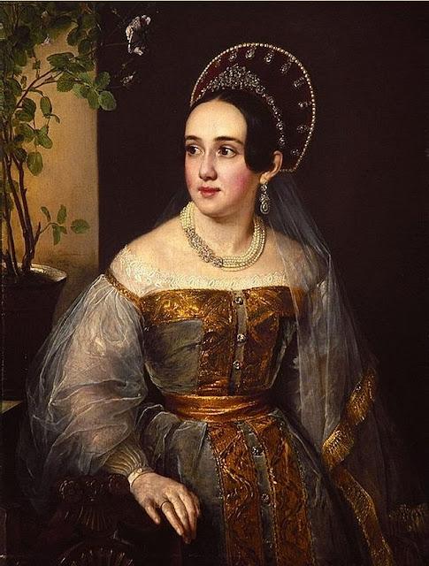 Vasily Tropinin - Portrait of Ekaterina Ivanovna Karzinkina
