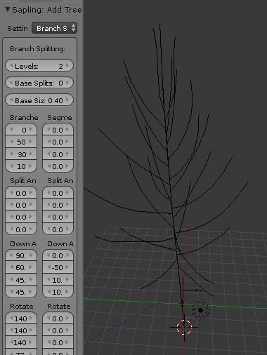blender sapling branch splitting levels 2