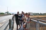 Au dessus du canal de Corinthe